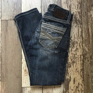 BKE Aiden straight distressed jeans Sz 26S